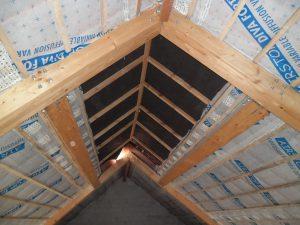une isolation de plafond